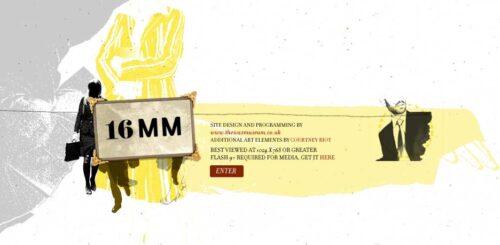 a16MM | Website - Splash Page