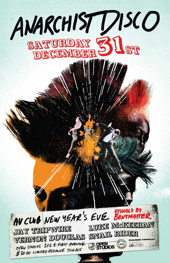 Open Studios | Poster - Anarchist Disco - December 31, 2011