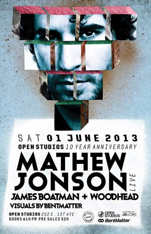 Open Studios | Poster - Mathew Jonson - June 1, 2013