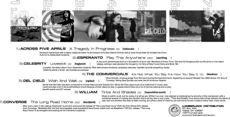 Lumberjack Distribution | Campus Magazine Advert - 2003