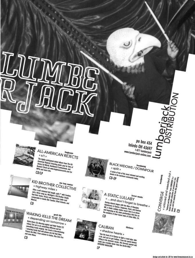 Lumberjack Distribution | Punk Planet Magazine Advert - 2002