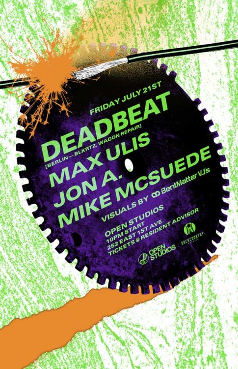 Open Studios | Poster - Deadbeat - July 21, 2017