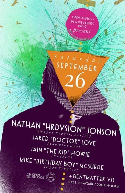 Open Studios | Poster - Hrdvsion - September 25, 2015