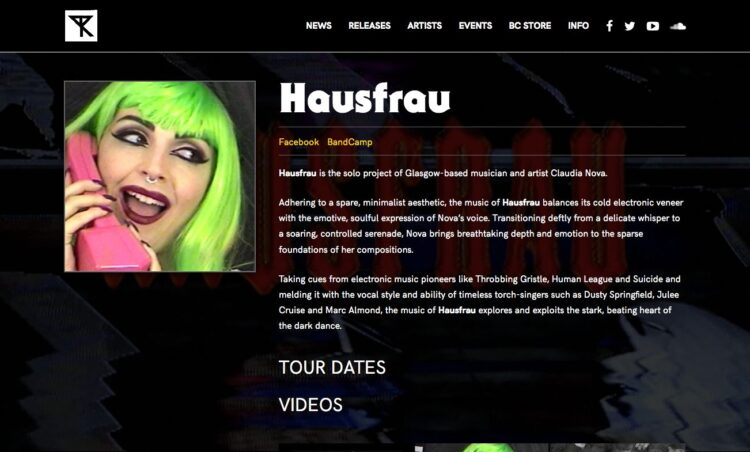 Possession Records | Website - Artist Page