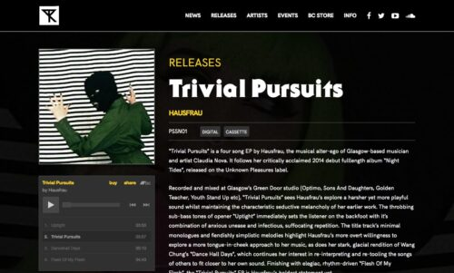Possession Records | Website - Release Page