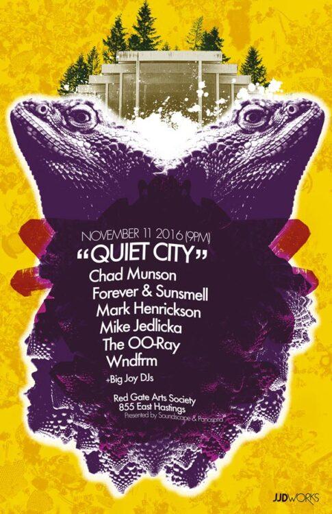 Panospria - Quiet City | Poster - November 11, 2016