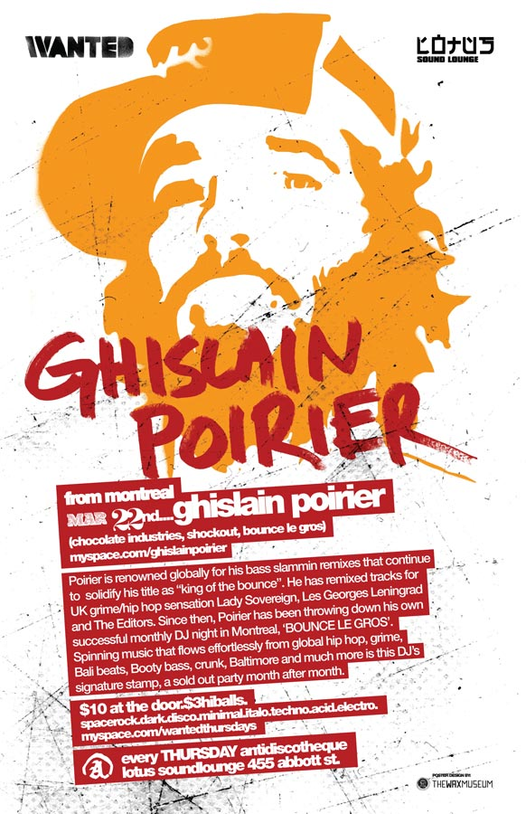 Wanted!   2007-03-22 Ghislain Poirier Poster