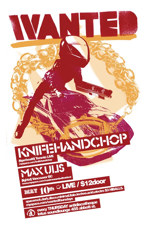 Wanted!   2007-05-10 Knifehandchop Poster