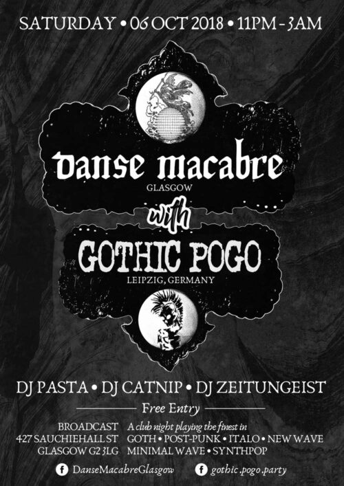 Poster | 06 Oct 2018, Glasgow, Broadcast | Gothic Pogo vs. Danse Macabre