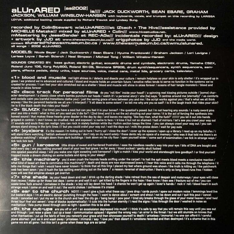 aLUnARED - SLMZK | LP Insert Side B